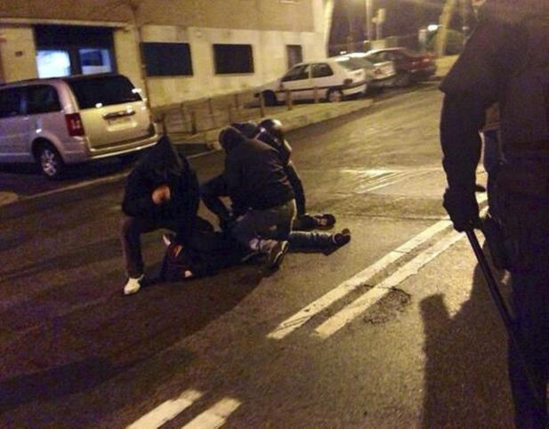 INCIDENTES TRAS CONCENTRACIÓN EN APOYO AL BARRIO DE GAMONAL