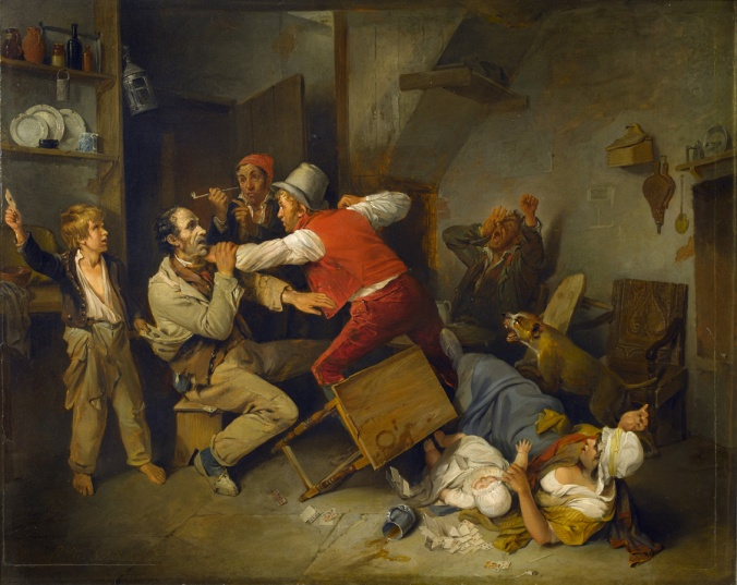 The Cheat Detected, 1814 (oil on panel)